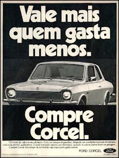 propaganda Ford Corcel - 1977, Ford Willys anos 70, carro antigo Ford, década de 70, anos 70, Oswaldo Hernandez, Corcel 77,
