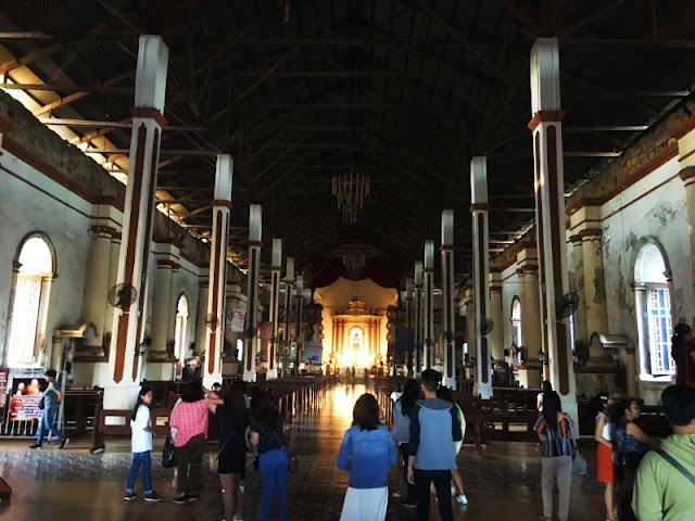 Inside Paoay Church Ilocos Norte a UNESCO World Heritage Site