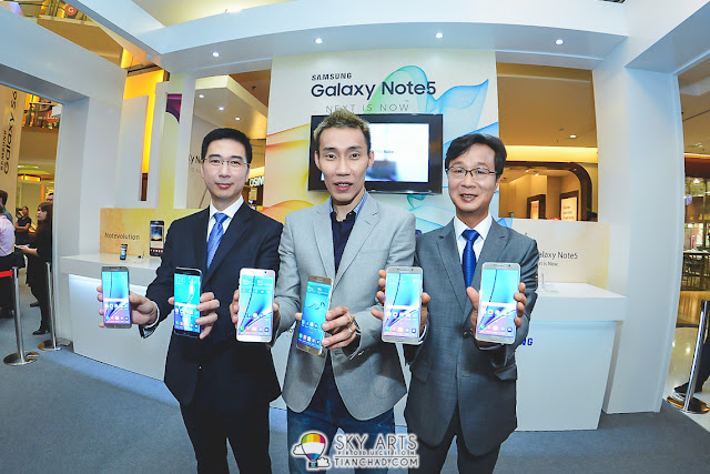 Photo with Samsung VIPs and Dato' Lee Chong Wei at Note 5 launch