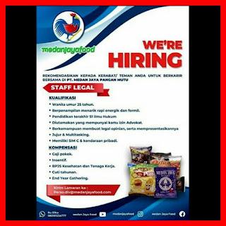 Staff Legal di PT Medan Jaya Food