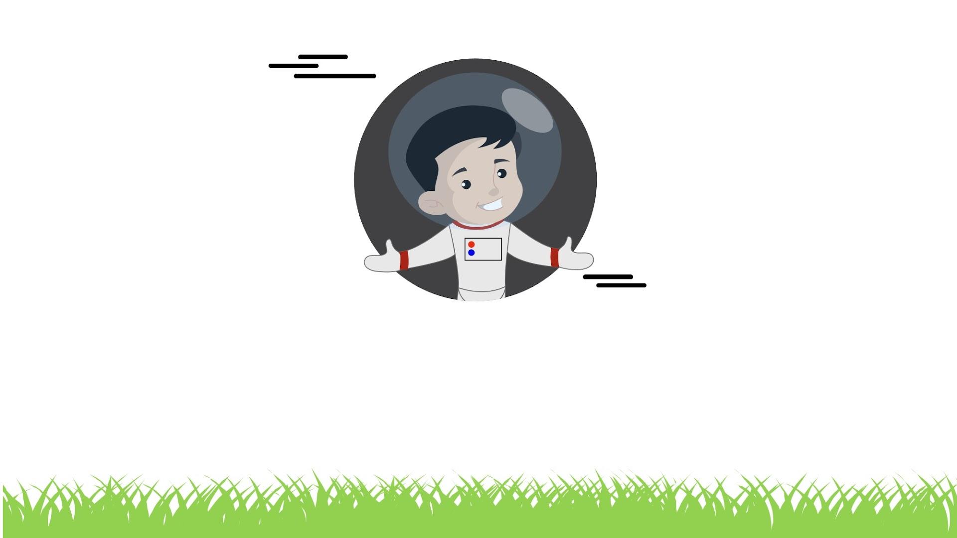Astronaut Kids presentations background