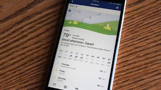 شركة فيس بوك تضيف أداة متكاملة للطقس ضمن تطبيقها