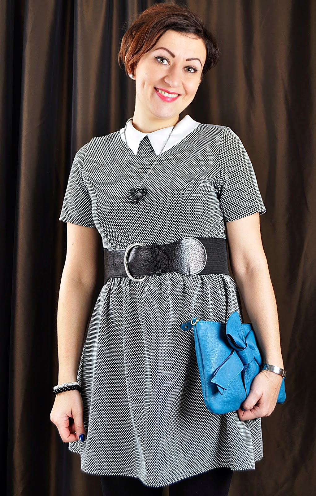 Fashion, Moda, Mohito necklace, New Look Dress, Peter Pan Collar Dress, Reserved bag, Styl, Outfit, Stylizacja, Adriana Style Blog, blog modowy Puławy, My Personal Style