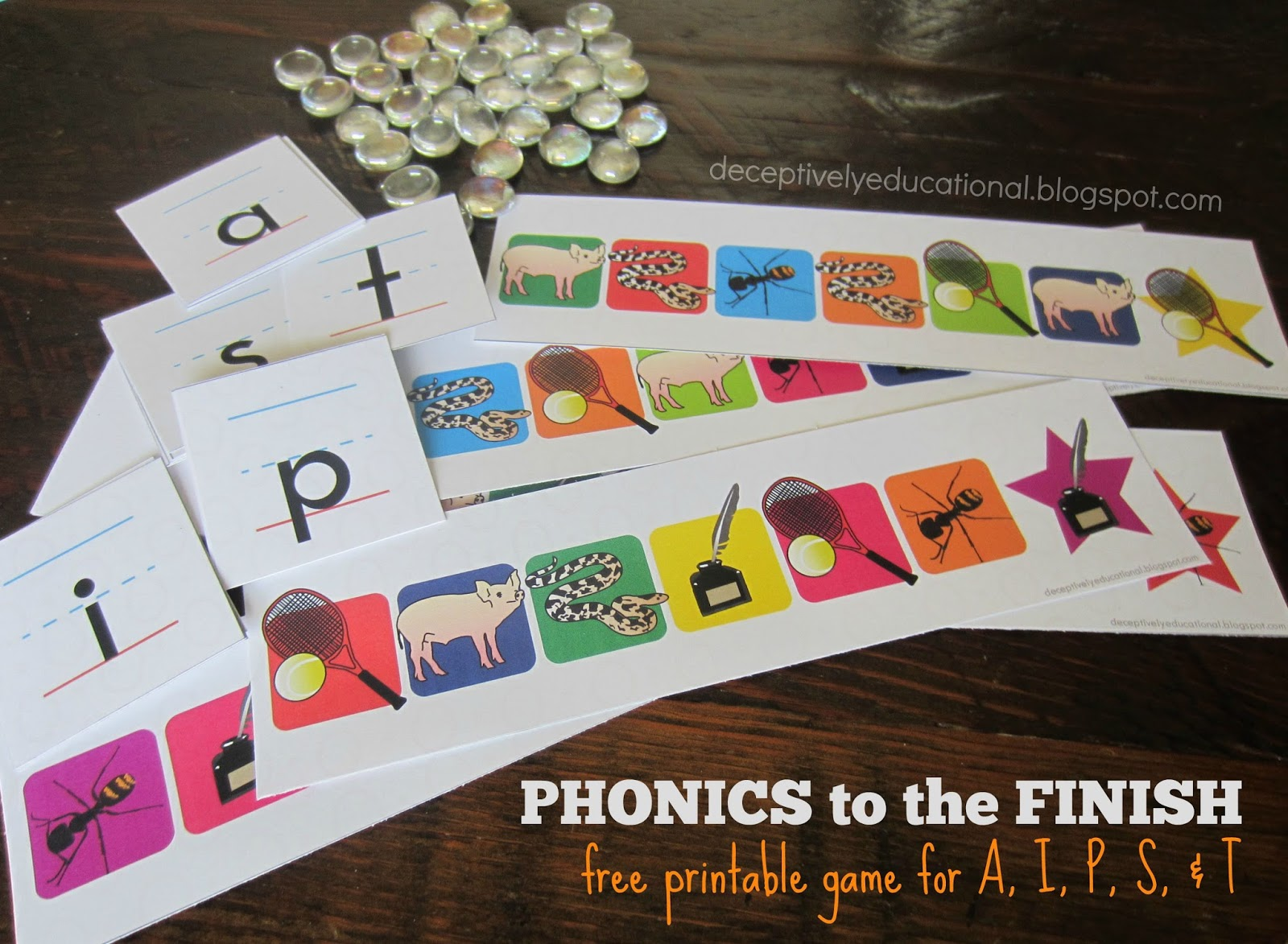 Relentlessly Fun Deceptively Educational Phonics To The Finish Free Printable Game A I P S