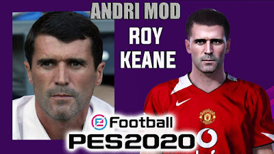PES 2020 Faces Roy Keane by Andri Mod
