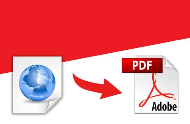 طريقة تحويل صفحة الويب HTML الى صيغة PDF
