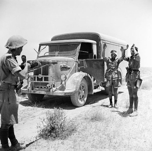 British capture supply truck in Libya, 2 June 1942 worldwartwo.filminspector.com
