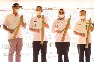 Sekdaprov dan Bupati Tulang Bawang Launching Kartu Petani Berjaya