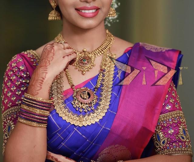 Nakshi Kasu haram Krishna Pendant