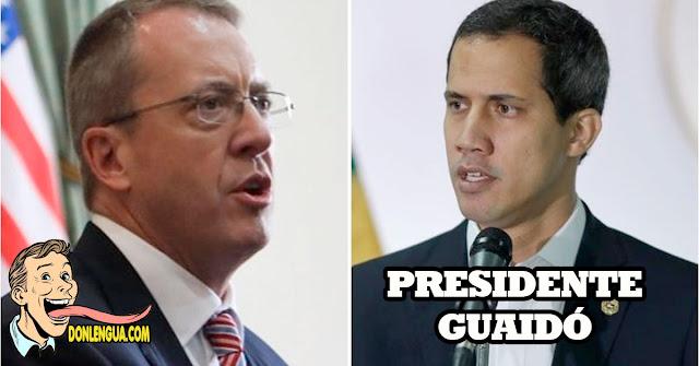 Estados Unidos solo reconocerá como presidente a Juan Guaidó hasta el fin de la usurpación