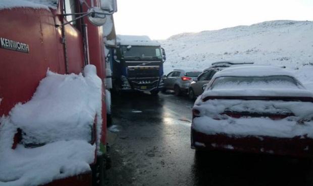 Carretera Central se encuentra bloqueada por la caída de intensa nevada
