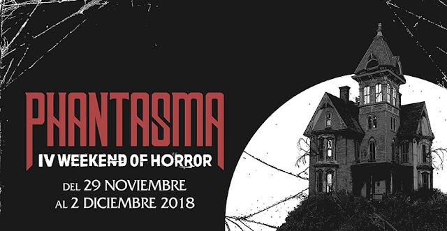 El 29 de Noviembre dará inicio el Phantasma: IV Weekend of Horror, en la sala Phenomena