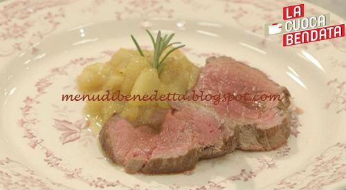 La Cuoca Bendata - Roast beef con salsa alle mele ricetta Parodi