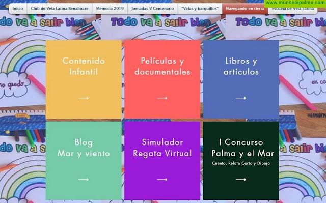 El Club de Vela Latina Benahoare se une al movimiento #YoMeQuedoEnCasa creando la plataforma `Navegando en tierra´