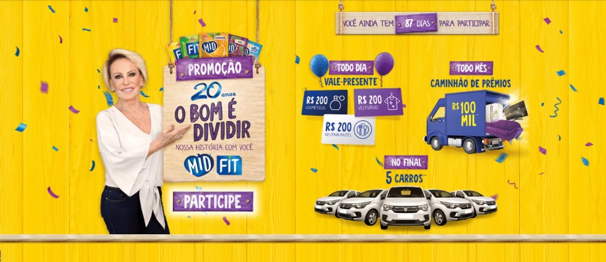 Participar Promoção Mid e Fit 2021 O Bom é Dividir Cadastrar, Prêmios Todo Dia, Mensal e Final