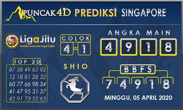 PREDIKSI TOGEL SINGAPORE PUNCAK4D 05 APRIL 2020