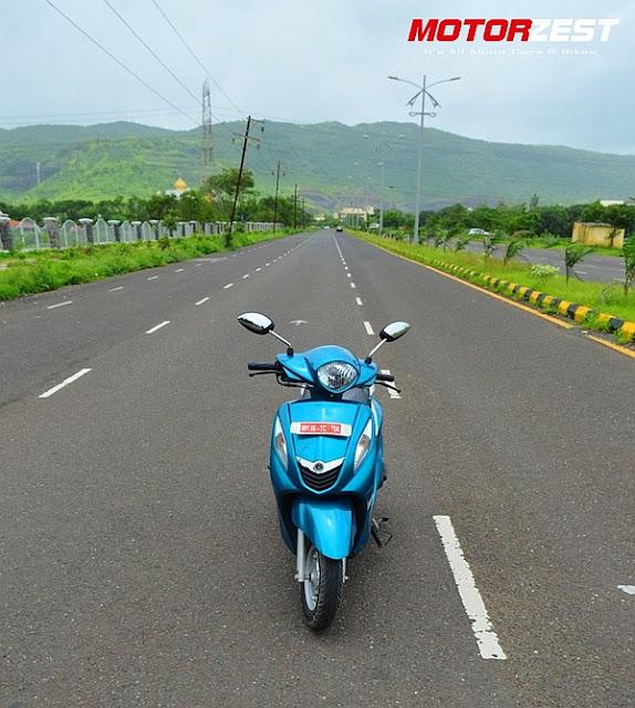 Yamaha Fascino India Sassy Cyan Front