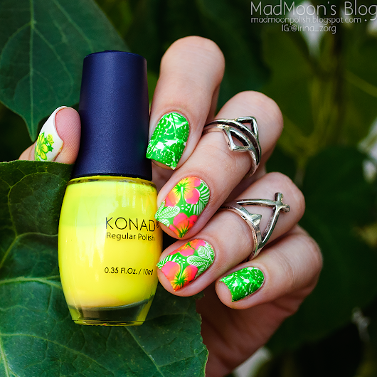 Mad Moon's Blog: Tropical nails и матовый топ Avenir Cosmetics.