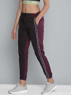 Black-&-Burgundy-Yoga-Pant