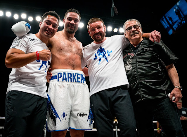 Joseph Parker celebrates win over Shawndell Winters