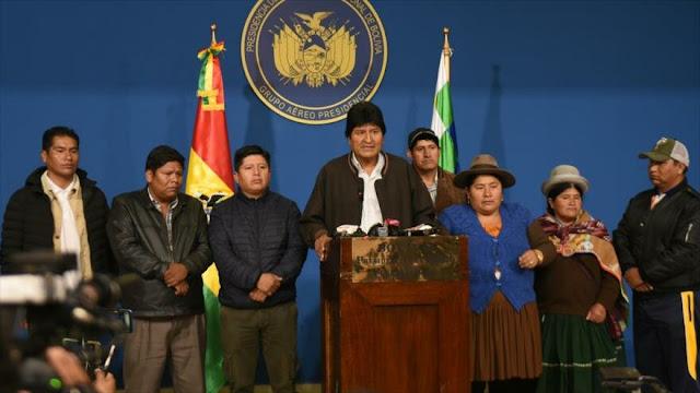 Morales se niega a renunciar tras convocar nuevas elecciones