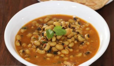 Lobia Curry Recipe in Hindi