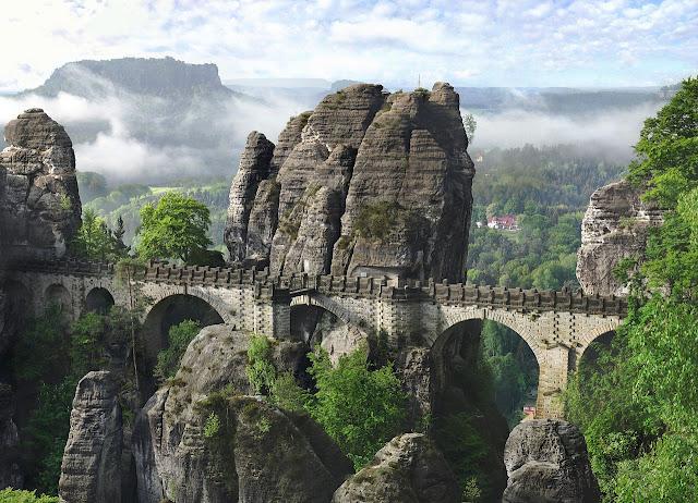 Alemanha: as pontes mais fantásticas! Basteibrücke, Sächsische Schweiz