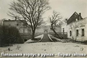 Руїни замкового палацу в Першу світову