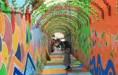 Dinding Warna-Warni Jodipan