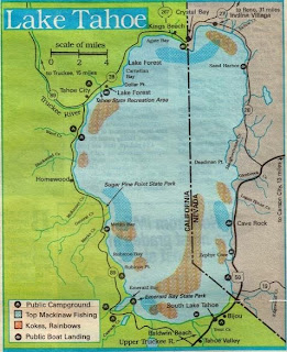 how to fish lake tahoe, hunting fishing maps and reports oregon and california