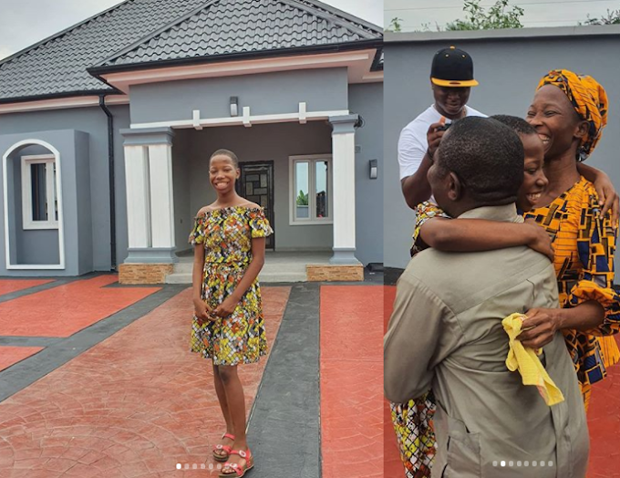 Kid comedienne, Emmanuella unveils the new house she built for her mum