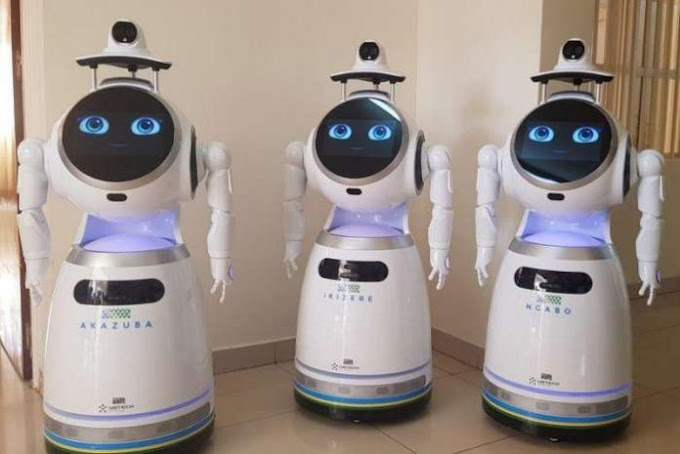 Rwandan medical workers deploy robots to minimise coronavirus risk
