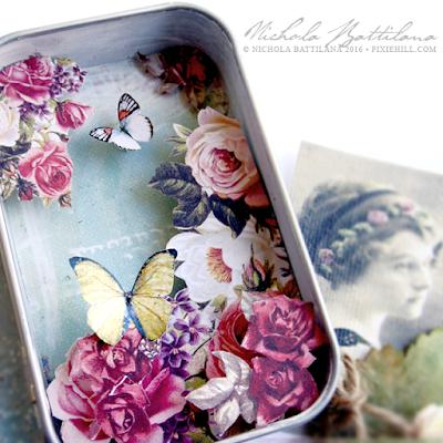 Butterfly Meadow Altoid tin - Nichola Battilana