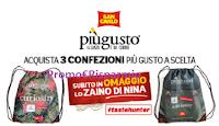 Logo San Carlo ''Il gusto è dei curiosi'': subito in omaggio lo zaino di Nina