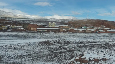Winter in San Pablo de Lipez in Bolivien