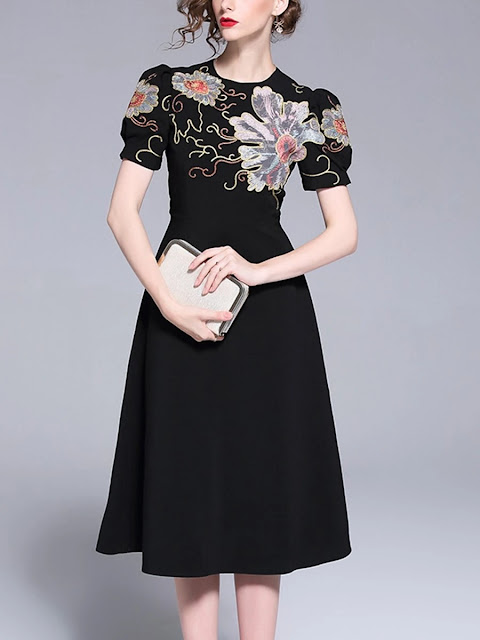 https://www.kis.net/collections/elegant-dresses/products/high-waist-bubble-short-sleeve-embroidered-dress