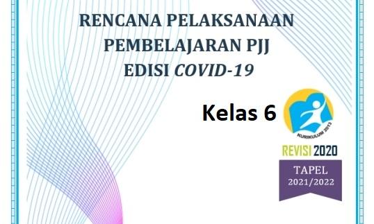RPP Daring Kelas 6 SD Semester 1 dan 2 Kurikulum 2013