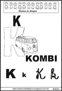 Alfabeto ilustrado letra K