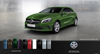 Mercedes A200 2015 màu Xanh lục Elbaite 175
