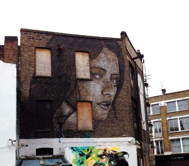 New Street Art Portrait By Australian Artist RONE in East London, United Kingdom. 1