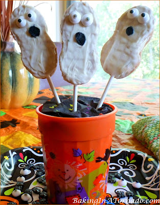 Peanut Butter and Jelly Ghost Pops