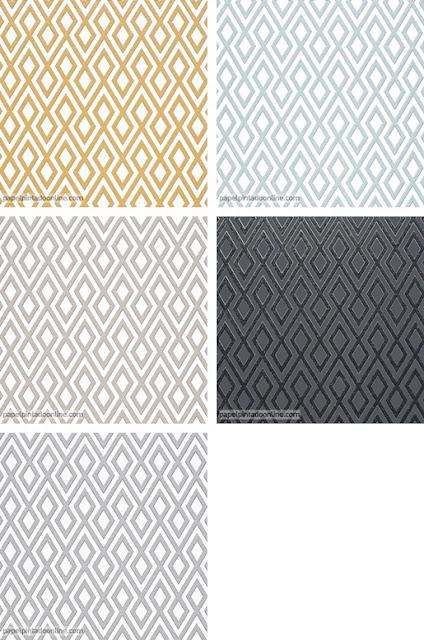Papel Pintado Geometrico Colores