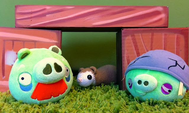 Tiny Theif ferret and Angry birds pigs