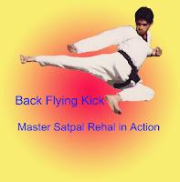 Master Er. Satpal Singh Rehal in Tkd action doing Taekwondo Dwi Twio Yeop Chagi Back Jump & Flying Kick, Garhshankar, Hoshiarpur, Mohali, Chandigarh, Punjab, India, Patiala, Jalandhar, Moga, Ludhiana, FSpliterozepur, Sangrur, Fazilka, Mansa, Nawanshahr, Ropar, Amritsar, Gurdaspur, Tarn taran, Martial Arts Tkd Training Club, Classes, Academy, Association, Federation