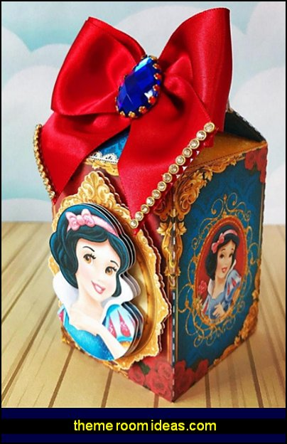 Snow White Party Favors Boxes snow white party decorations snow white party