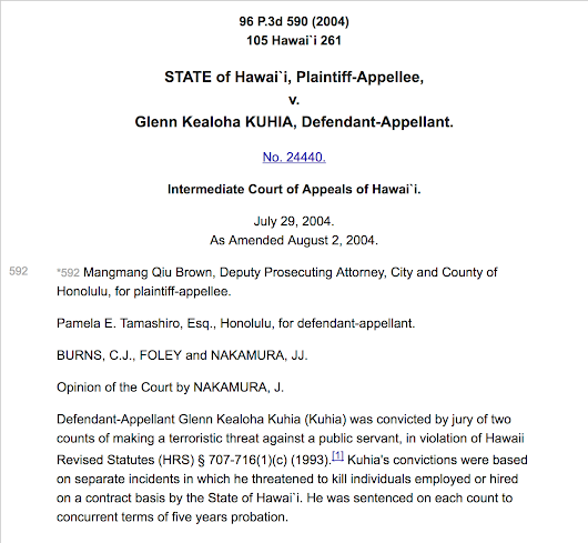 Genealogy in the Court Room: State of Hawai'i v. Kuhia