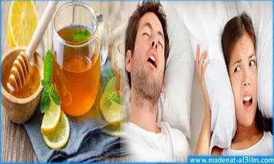علاج الشخير أثناء النوم بالأعشاب