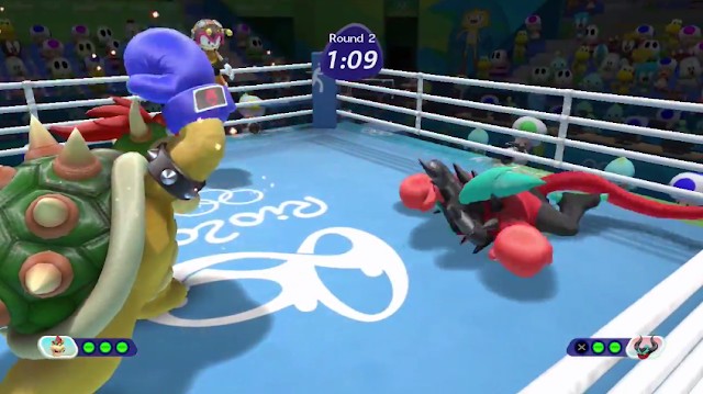Mario & Sonic at the Rio 2016 Olympic Games Wii U Zavok Bowser boxing match