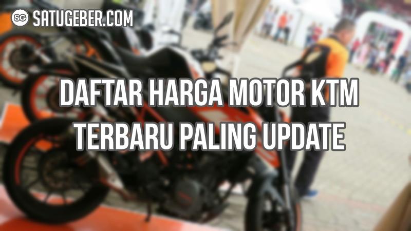foto dan harga motor KTM terbaru
