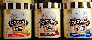 DREYERS ice cream taste test: Vermont Maple Syrup Oregon Black Cherry Maine Blueberries Cream